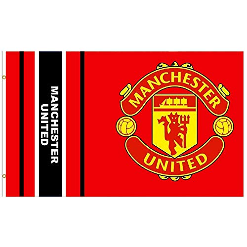 MUFC Riesige Manchester United Fußball-Flagge (1,5 x 0,9 m, 100 % Polyester)
