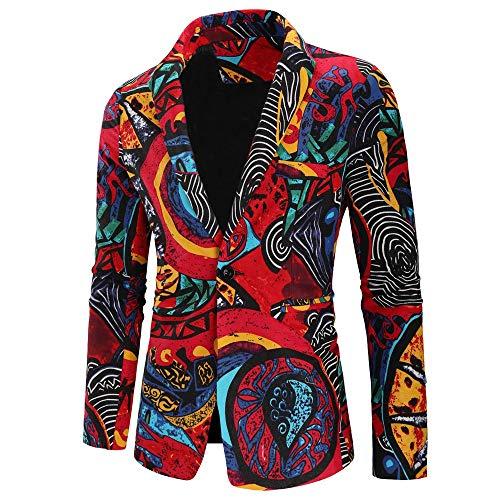 MAYOGO Jas mannen vintage pak colbert met één knoop, pak heren slim fit 2018 mode retro winter verkoop jas mantel overcoat outwear M-XXXL