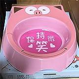 MYYXGS Tazón de Fuente de Dibujos Animados de un tazón japonés Doble tazón de Comida Gato y Perro tazón Adecuado para Gatos y Perros pequeños tazón Gato Conejo hámster Salud Ambiental