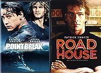 Point Break & Road House DVD 80's Patrick Swayze Movie Bundle Double Feature Action Star Movie Set