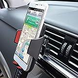 Support universel pour téléphone portable, grille d'aération de voiture Rouge