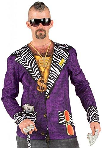Boland 84212 - Camisa fotorrealista Pimp, disfraces para adultos