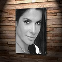 SANDRA BULLOCK - Canvas Print (A4 - Signed by the Artist) #js001