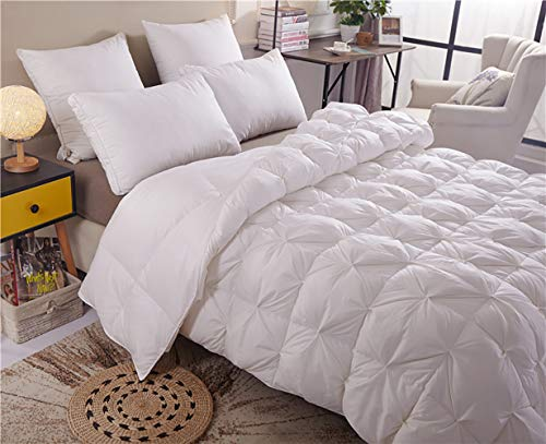 NOSSON Double Size Duvet, Bed Quilt, White Goose Feather And Down Duvet 100% Cotton Shell Anti-Dust Mite & Feather-Proof Fabric All Season