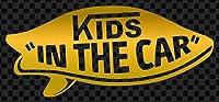 ステッカータウン VANS風 KIDS IN THE CAR SURF サーフ キッズインカー D ゴールド