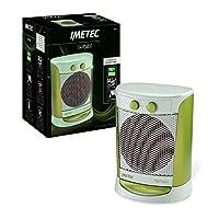 imetec eco silent diffusion fh4-300 termoventilatore oscillante e silenzioso a basso consumo energetico, 3 livelli di temperatura, termostato ambiente