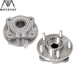 MAYASAF 513123x2 Front Wheel Hub Bearing Assembly 5 Lugs Non-ABS 4 Bolt Flange Fit Chrysler Plymouth Voyager/Prowler, Dodge Caravan/Voyager/Town& Country
