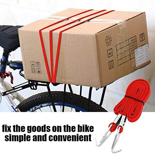 Lorsoul Radfahren Koffergurt elastische Spanngurte Bikes Seil im Freien Fahrrad Koffer Band Zubehör
