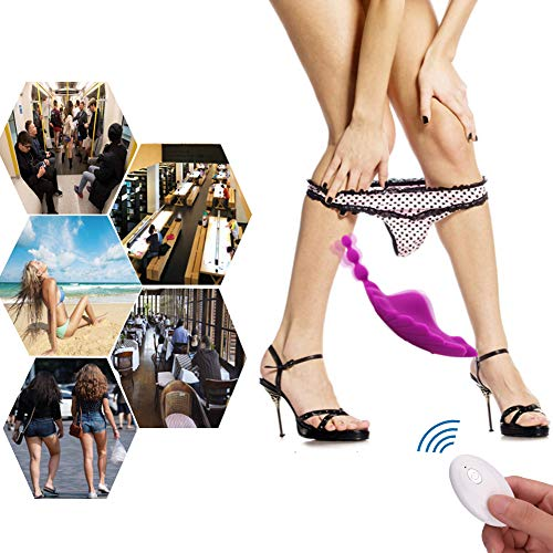 Wireless Remote Control Clitoral Stimulation Wearable Panty Vibrator, Adorime Rechargeable Waterproof Portable Vagina Clit Anal Stimulator Massager, Adult Sex Vibrating Toys for Women and Couples