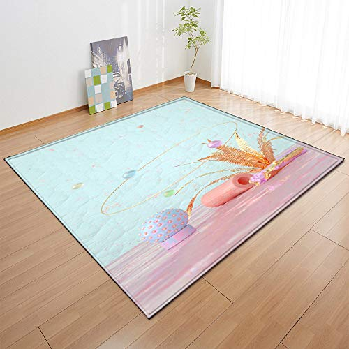Grote tapijten, antislip decoratief tapijt, moderne abstracte Boheemse tafelaccessoires print kunst huisdecoratie voor woonkamer, eetkamer, slaapkamer, keuken Art Deco 60×39inch (152.4×99.1cm)