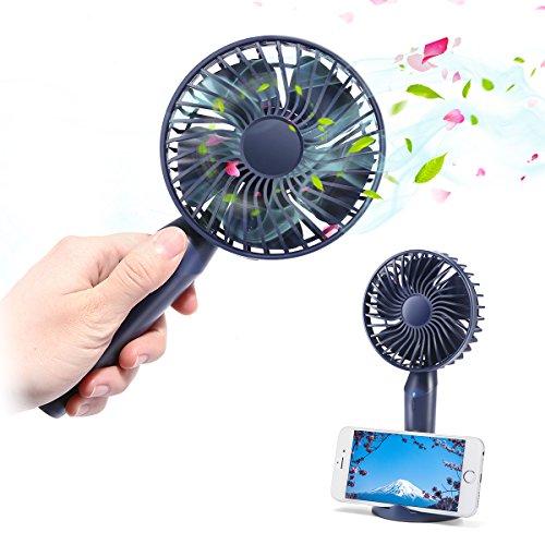 MECO ELEVERDE Mini Ventilatore Portatile Ventilatore Personale Ventilatore da Tavolo USB Ricaricabile Con Supporto Del Telefono & Aromaterapia per Ufficio Esterna Campeggio Camera Viaggio 3 Velocità