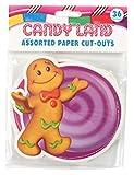 Eureka Candy Land Papel Surtido Cortes, 12cada uno de 3diferentes diseños, 36unidades