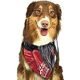 YAGEAD Pañuelo para Perros Cachorro y pañuelos para Mascotas, Ver Acuarela Navidad Terrier escocés Negro con Sombrero Rojo Fauna Silvestre Perro Mascota Invierno Bufanda para Mascotas