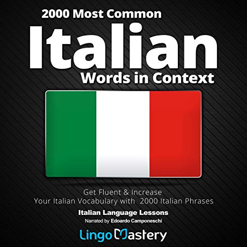 2000 Most Common Italian Words in Context audiobook cover art