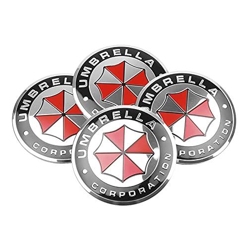 WOLHJ Tapacubos 4pcs 56 / 60mm Cajas de Ruedas de automóvil Caps de Centro de la Rueda de la corporación Emblema Emblema calcomanía Compatible con BMW Audi Kia Ford Toyota Suzuki Lada