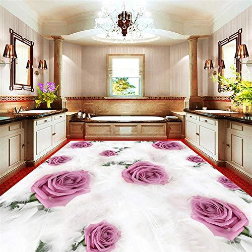 Benutzerdefinierte Größe Rose 3D Wallpaper Dreidimensionale Malerei Hd Bodenfolie 3D Boden Selbstklebende PVC