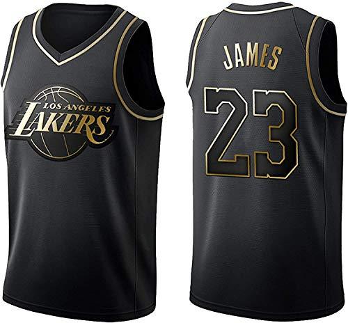 BMSGM Camisetas De Hombre-NBA Los Angeles Lakers # 23 Lebron James Camiseta De Baloncesto Sin Mangas Camiseta Deportiva, Malla De Tela Transpirable,A,XXL(185~190CM/95~110KG)