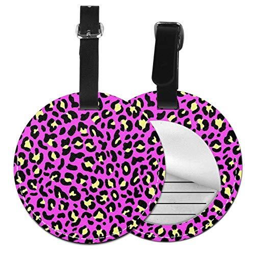 Etiquetas para Equipaje Bolso ID Tag Viaje Bolso De La Maleta Identifier Las Etiquetas Maletas Viaje Luggage ID Tag para Maletas Equipaje Cheetah Leopard 8 9 Selva