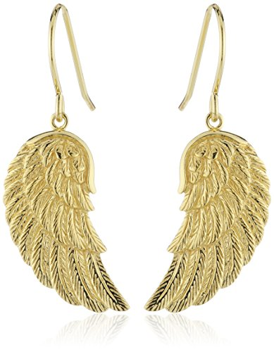 Engelsrufer Flügel Ohrhänger für Damen 925er-Sterlingsilber Vergoldet Größe 20 mm