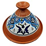 Tajine 0907211205 Faitout Terre cuite Plat ethnique Marocain Tunisino XL 32 cm