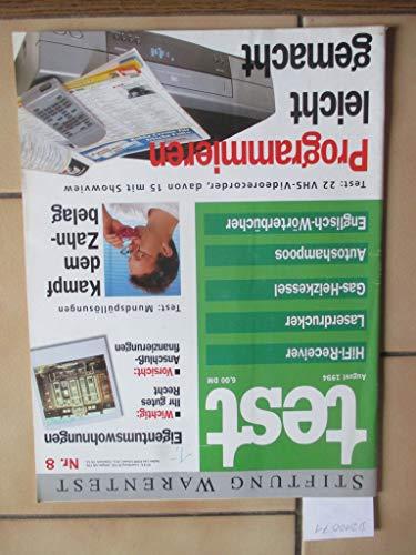 Stiftung Warentest Heft Nr. 8 / 1994: HiFi-Receiver, Laserdrucker, Gas-Heizkessel, Autoshampoos, Englisch-Wörterbücher, Mundspüllösungen