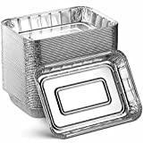 Aluminum Foil Grill Drip Pans - Bulk Pack of Durable Grill Trays – Disposable BBQ Grease Pans – Compatible with Weber Grills - Made in The USA - Also Great for Baking, Roasting & Cooking (Pack of 25)