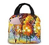 Tree Night Light Tote Lunch Bags para mujeres, Portátil Aislante Fiambrera Contenedor Cooler Bag, Tote Bento Pouch para Viajes/Picnic/Trabajo