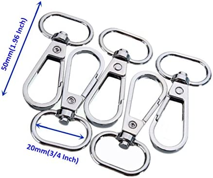 Argollas con cierres de mosquetón giratorias para hebillas de cinturón o bolso, de 360 grados para hacer bolsos de mano o bandoleras, color plateado ...