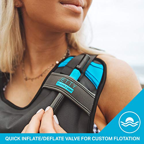 Jetty Inflatable Snorkel Vest - Premium Snorkel Jacket for Adults. Features...