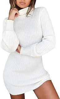 TOPUNDER Casual Long Sleeve Sweater Jumper Turtleneck Sweaters Womens Dress