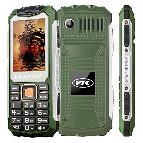 VKWORLD STONE V3S TELEFONO CELLULARE RESISTENTE / ROBUSTO IP65 ANTIURTO ANTIPOLVERE WATERPROOF DUAL SIM (VERDE)