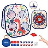 Board Games,Kids Game Dart Board,Bean Bag Toss Game Toy 3 in 1 Game Set for Kids Toddlers, with 6...