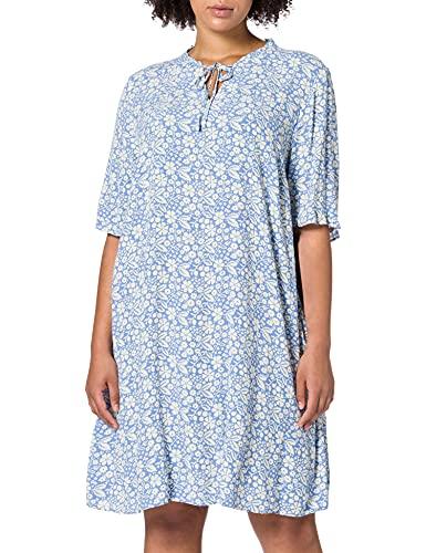 TOM TAILOR MY TRUE ME Damen 1024844 Plussize Feminine Kleid, 26462-Blue Flower Paisley, 48