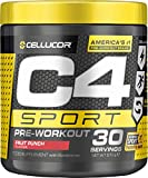 C4 Sport Pre Workout Powder Fruit Punch   Informed-Sport Certified + Sugar Free