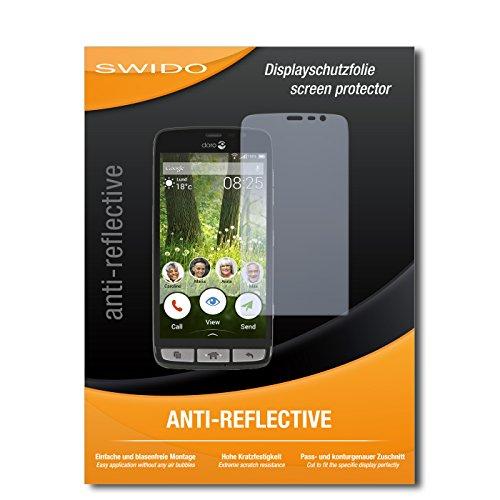 SWIDO Bildschirmschutzfolie für Doro Liberto 825 [3 Stück] Anti-Reflex MATT Entspiegelnd, Extrem Kratzfest, Schutz vor Kratzer/Bildschirmschutz, Schutzfolie, Panzerfolie