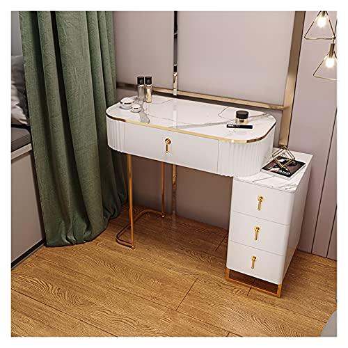 YSJJYQZ Tocador Telar de Mesa Luz de Lujo Casa Muebles Dormitorio Moderno Minimalista Pequeño Apartamento Mini Vanity Maquillaje Mesa Mesa de Almacenamiento (Color : 80cm)