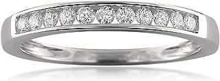 18k White Gold 11-Stone Round Diamond Bridal Wedding Band Ring (1/4 cttw, I-J, VS2-SI1)