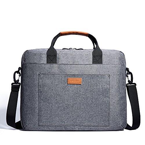 KALIDI 17 Zoll Laptoptasche Aktentaschen Schultertasche Notebooktasche Laptop Sleeve Laptop hülle für bis zu 17.3 Zoll für Alienware MSI Gaming Laptop mit Schultergurt Griff (Grau)
