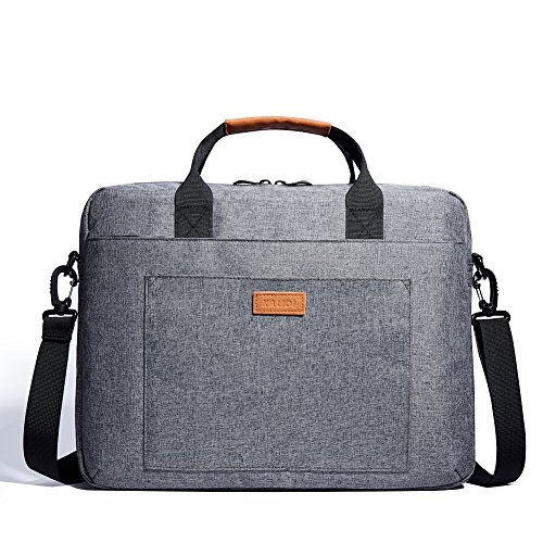 KALIDI 14 Zoll Laptoptasche Aktentaschen Handtasche Tragetasche Schulter Tasche Notebooktasche Laptop Sleeve Laptop hülle für bis zu 14.4 Zoll Laptop Dell Alienware/MacBook/Lenovo/HP (Grau)