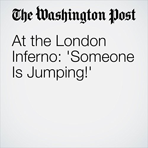 At the London Inferno: 'Someone Is Jumping!' copertina