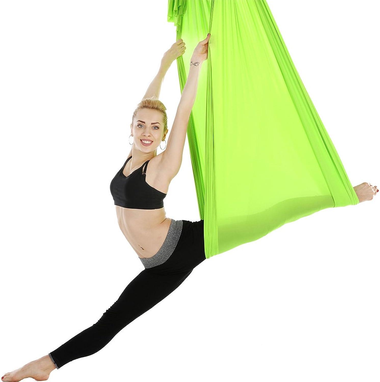 PUDDINGHH Deluxe L  5 Yards, W  2.8 Yard Yoga Flying Swing Aerial Yoga Hngematte Seidenstoff für Yoga Anti-Schwerkraft,9