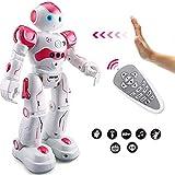 Eholder RC Smart Robot Toy for Kids Gesture Sensing Dancing Walking Remote Control Robot Intelligent Programmable Educational RC Robot Robotics Toys Gift for 5 6 8 9 10 Year Old Girls Pink Robots
