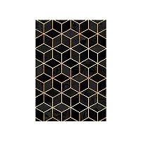 カーペットマット、フロアマット、滑り止めマット、さまざまなスタイル、家族は活力と美しさ、環境にやさし 敷物の幾何学的な北欧のリビングルームのモダンな家の装飾カーペットの寝室の廊下の床のマット滑り止めドアマットピンクリビングルーム敷物160x230p (Color : Io, Size : 45 x 75 cm)