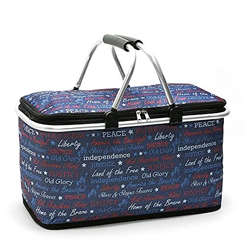 cesta con tapa con efecto mimbre de la marca YUEBAOBEI