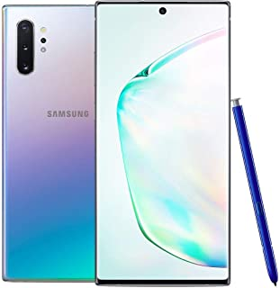 Samsung Galaxy Note 10+ N975F/DS 256GB, 6.8' Dynamic AMOLED Screen, 12GB RAM, Quad Camera, 4K UHD Factory Unlocked LTE Smartphone - (International Version) (Aura Glow)