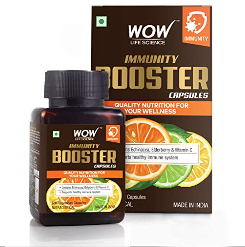 WOW Life Science Immunity Booster Capsules - Support Healthy Immune System - 60 Veg Capsules