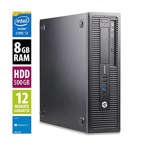 HP EliteDesk 800 G1 SFF - Core i3-4150 @ 3,5 GHz - 8GB RAM - 500GB HDD - DVD-RW - Win10Home (Generalüberholt)