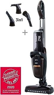 AEG FX9-1-4IG Aspiradora Escoba Sin Cable 360 Sin Bolsa, Bateria 36V de hasta 60 Minutos, 3 Velocidades, Ergon?mico, 82dB, Funci?n Parking, Luces Cepillo LED, Dep?sito 0.7L, Gris Met?lico