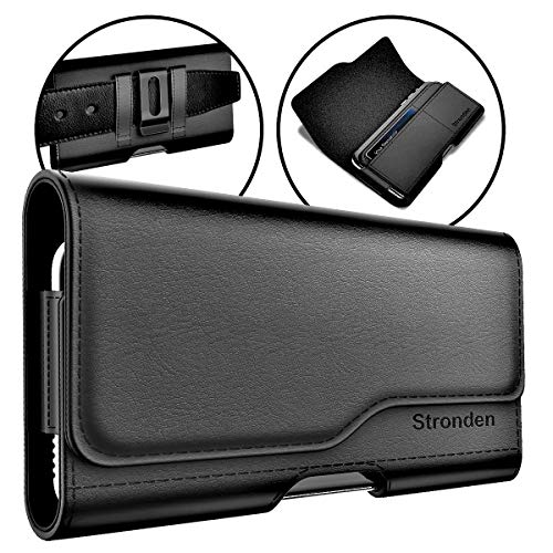 Stronden iPhone 11 Pro / 8 / X/XS/SE (2020) Holster - Leather Belt Case with Belt Clip [Magnetic Closure] Pouch w/Built in ID Card Holder (Fits Otterbox Commuter/Symmetry Case)