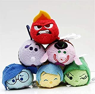 ML.PRODUCTS Plush Inside Out Stuffed Animals Plush Toy Dolls Screen Cleaner Phone - 6pcs/lot 9cm